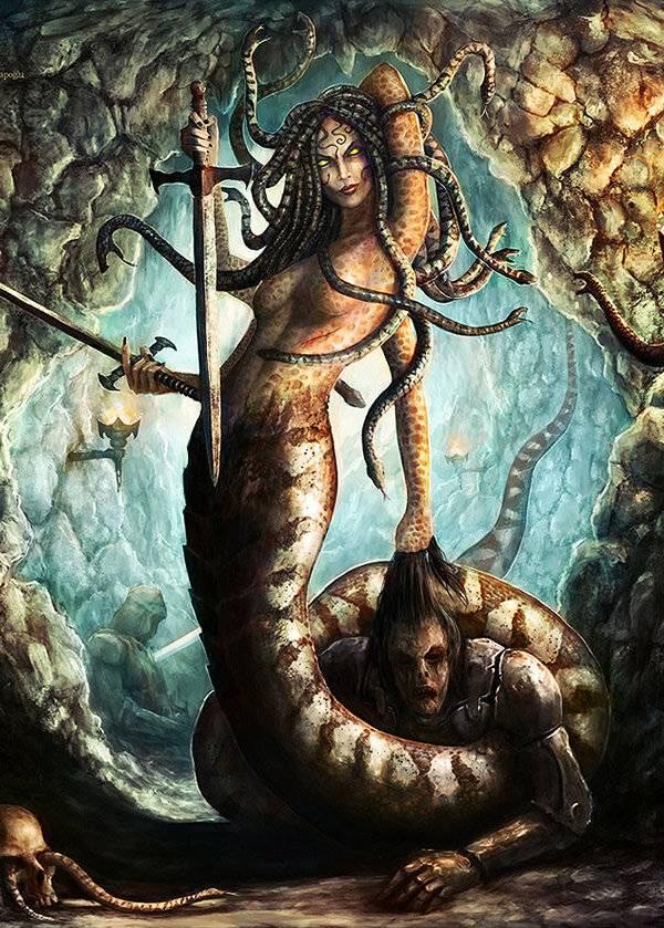 Медуза горгона: происхождение, мифы, кем убита   мифолог