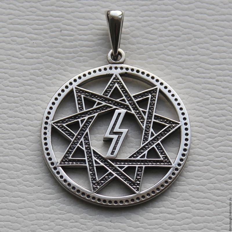 Звезда инглии (девятиконечная): значение символа, с мечем, оберег