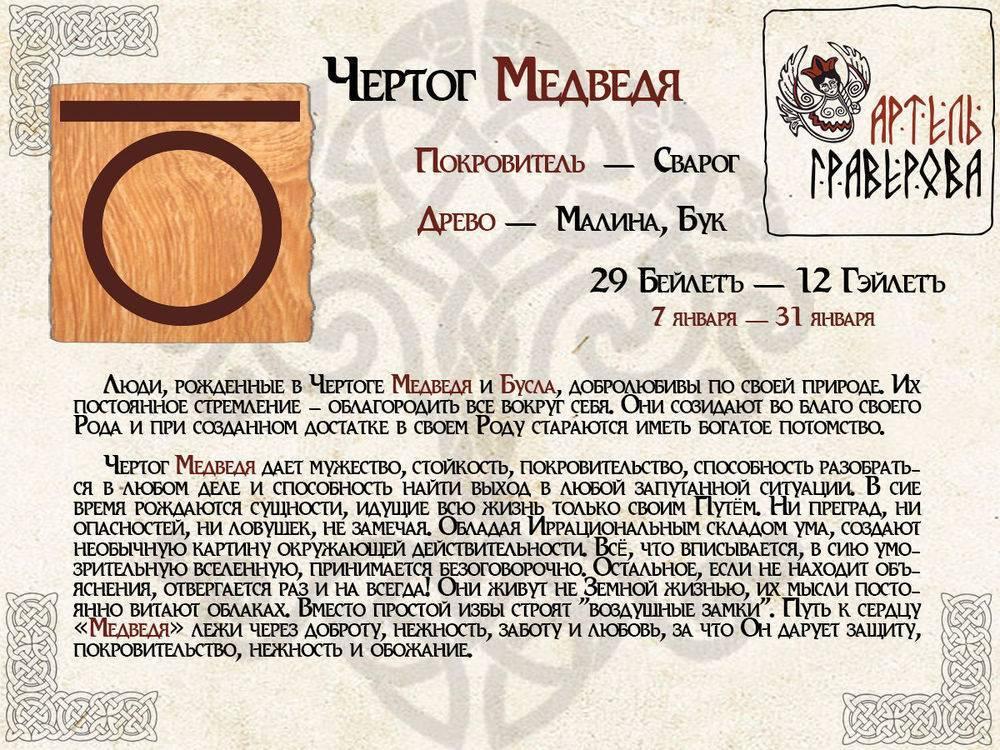 Славянский оберег по дате рождения славянский гороскоп по дате рождения