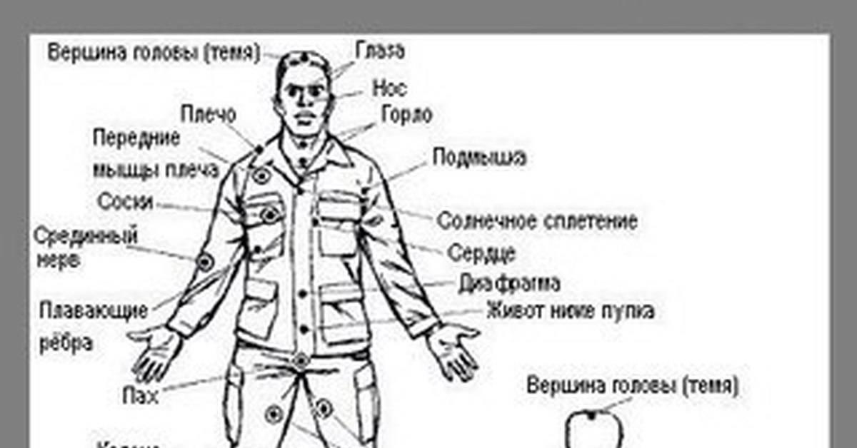 Болевые точки на теле человека: подробная схема и обучающее видео