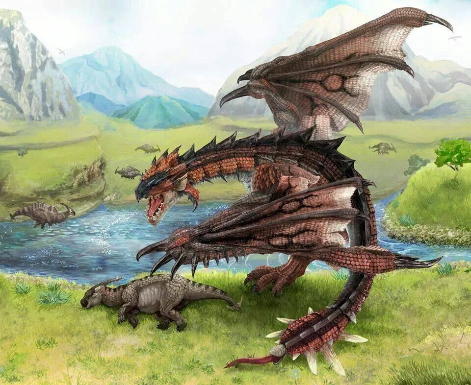 Крылатые драконы и виверны в мифах и легендах народов мира