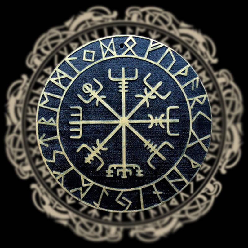 Рунический компас вегвизир - значение. значение оберега у славян