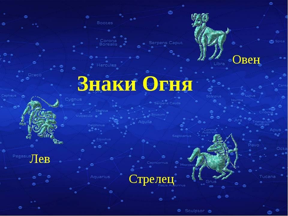 Кто относится к стихии огня по гороскопу и их совместимость с другими знаками