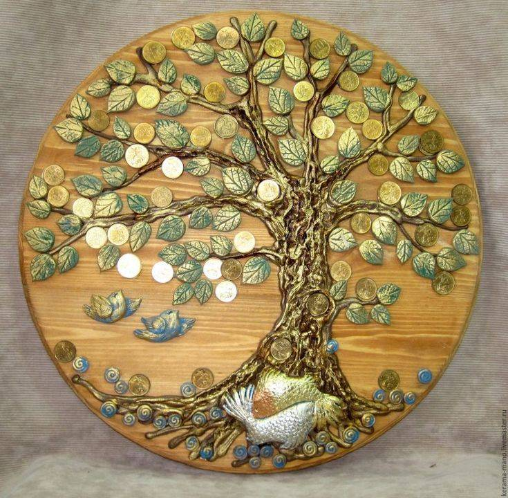 Денежное дерево из монет, купюр и бисера (мастер-класс)