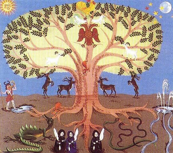 Источником чего было мировое древо у славян? каково значение оберега и как его сделать?