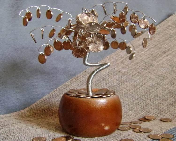Как сделать денежное дерево своими руками. пошаговая инструкция, как сделать денежное дерево из монет, купюр, бисера