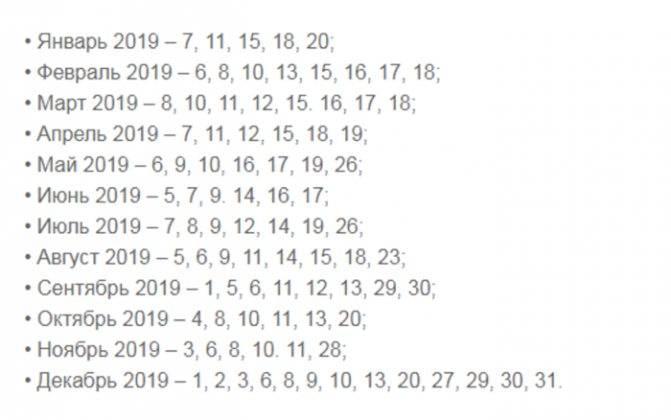 Лунный календарь свадеб 2019: благоприятные дни (даты, месяца)