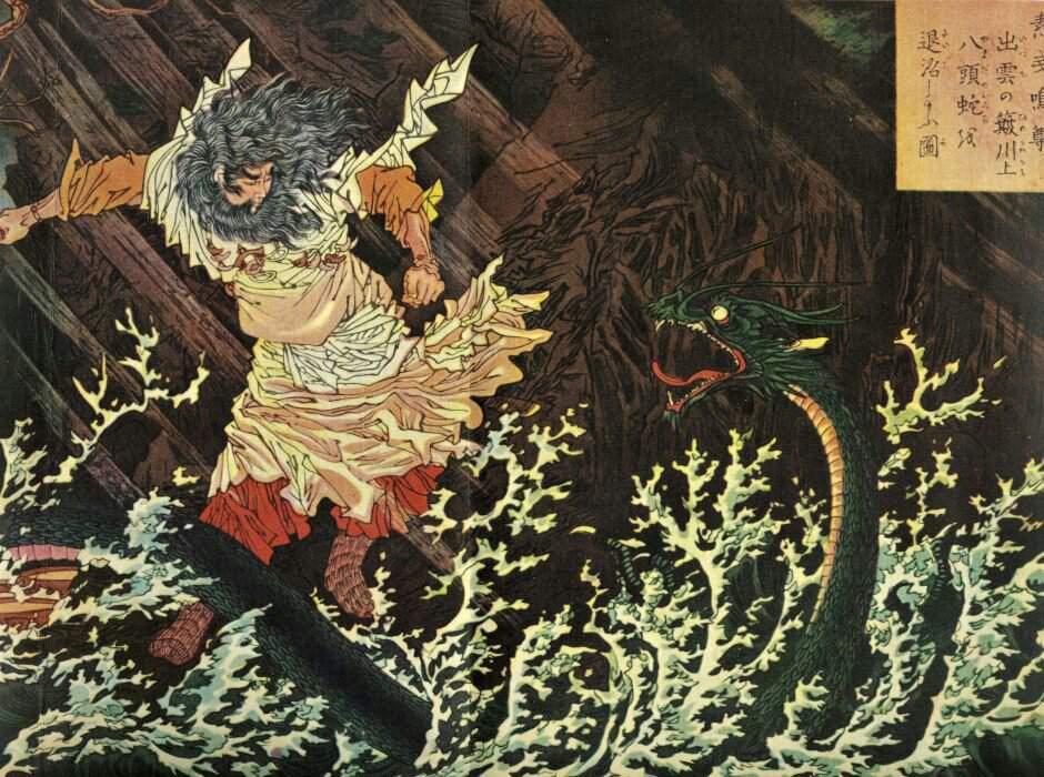 Драконы в японской мифологии - ямата но ороти, ватацуми, рю во