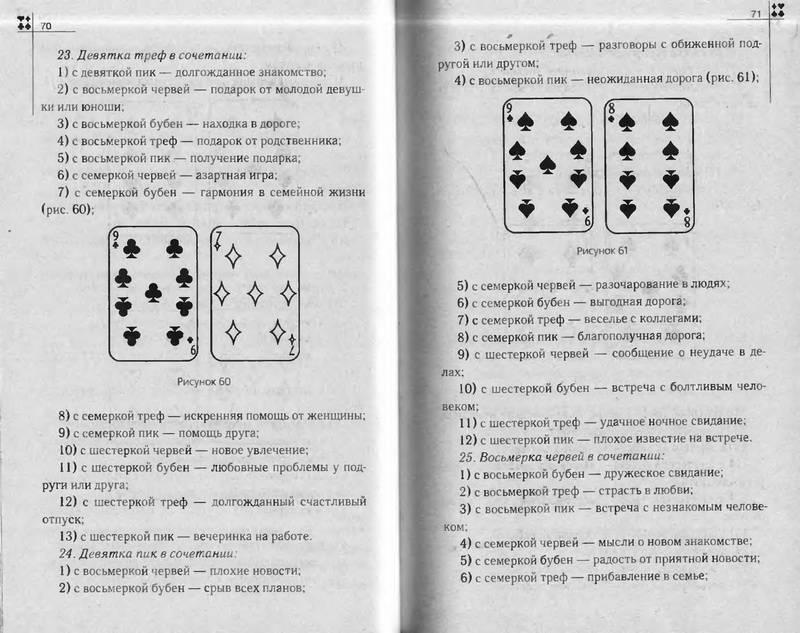 Значение карт при гадании на игральных 54 карты - sntr