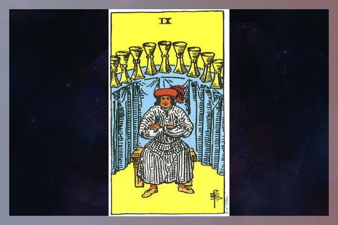 9 кубков таро (девятка чаш) - значение карты в раскладах и в гадании