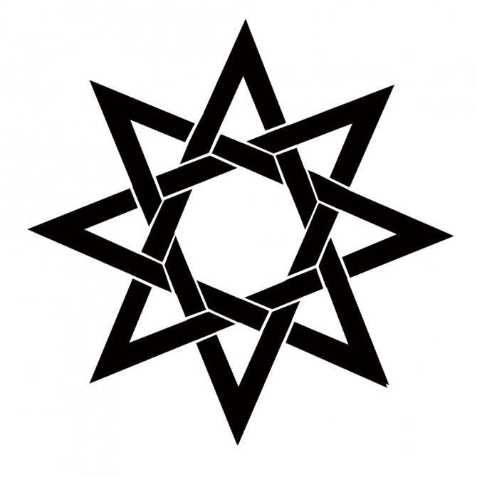 Значение тату восьмиконечная звезда для мужчин и женщин