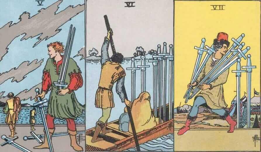 10 (десятка) мечей таро: значение в отношениях, любви, здоровье, работе, совет