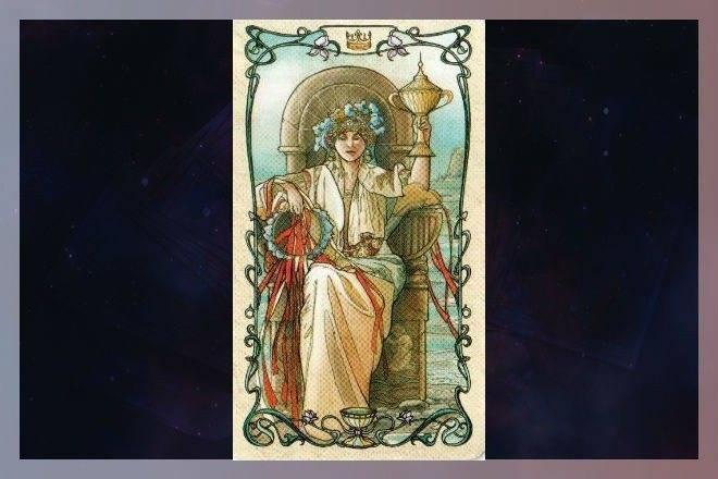 Стихия воды — королева кубков таро значение карты при гадании