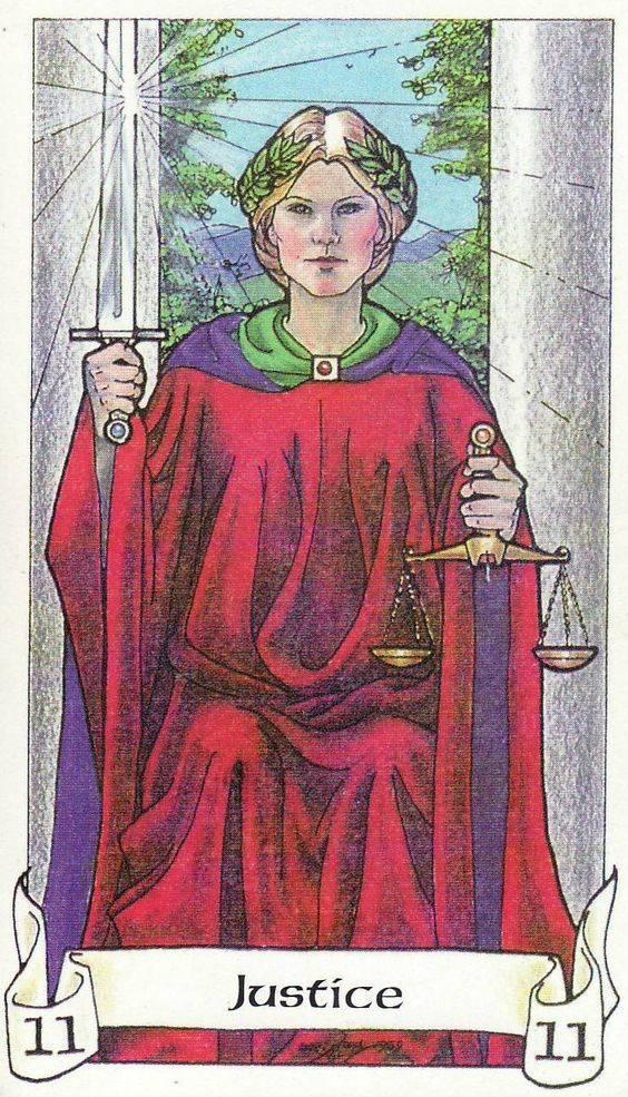 Справедливость: значение и описание карты таро   знаки зодиака