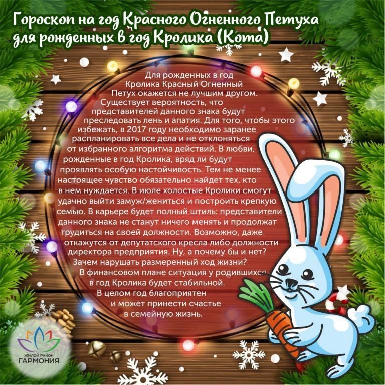 Год кролика(год кота или год зайца)-1999/1987/2011/1963 год какого кролика?