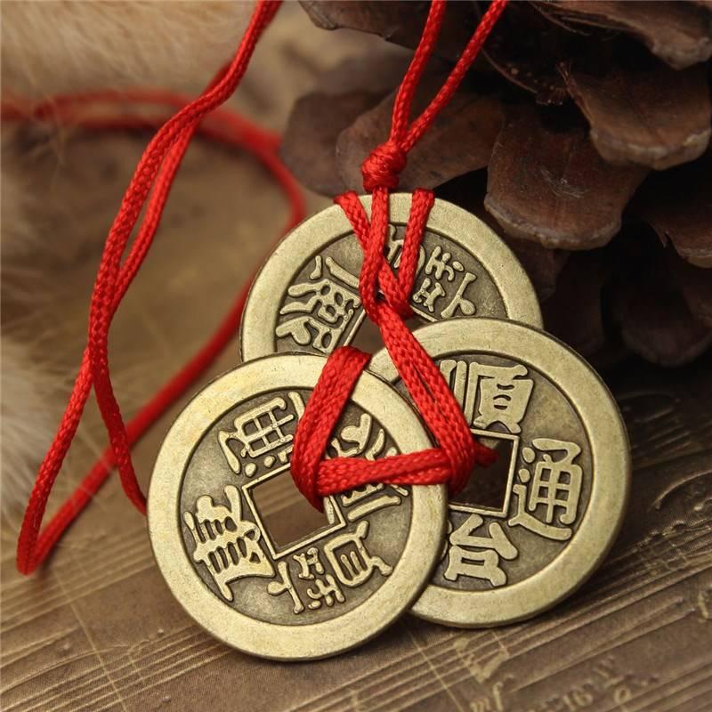 Китайские монеты фен шуй значение. как правильно связывать монеты. связка в две и три монеты фен-шуй