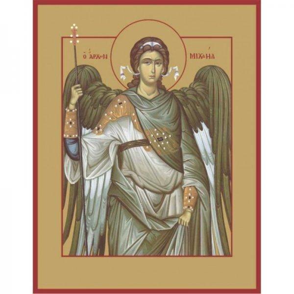 Златовласый ангел с лилией: икона архангела гавриила