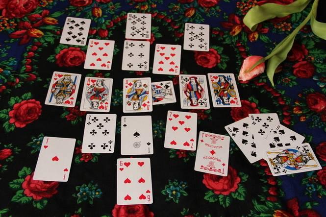 Как раскладывать пасьянс на 36 карт и более карт