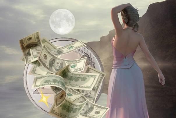 Заговор в полнолуние на деньги - лучшая пора для обрядов