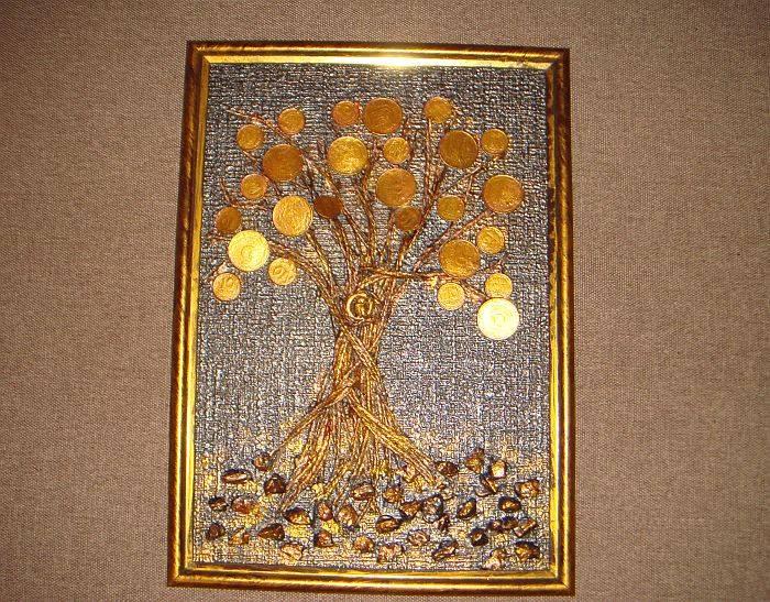 Мастер класс — денежное дерево в подарок