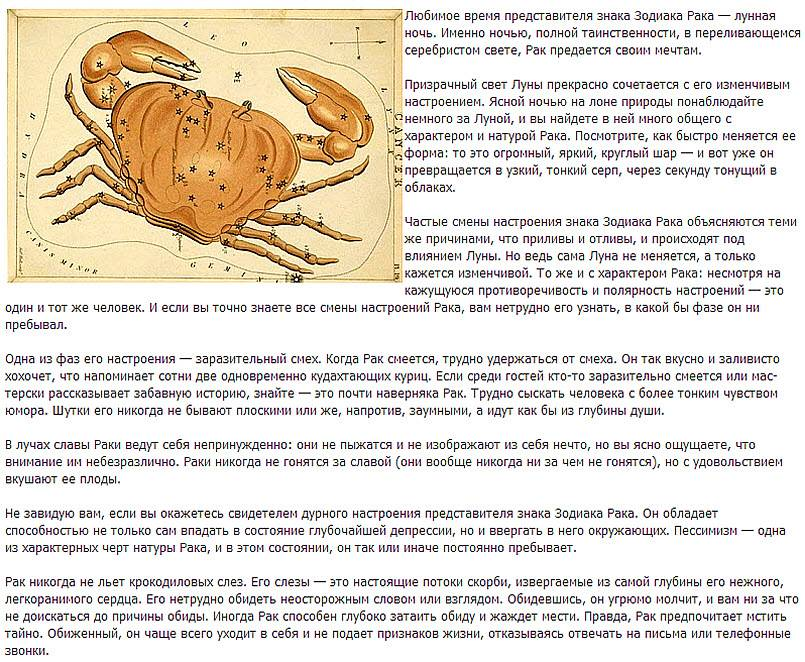 Мужчина-рак характеристика и совместимость знака зодиака