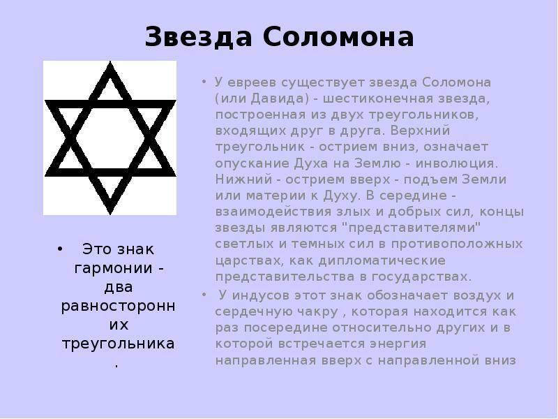 Звезда Давида — значение древнего символа