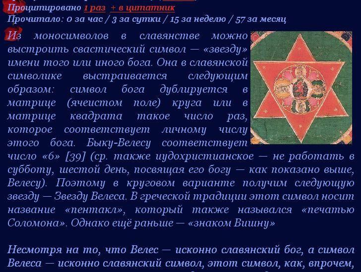 Звезда давида (велеса): значение символа