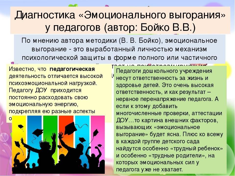 Методика диагностики уровня эмоционального выгорания в.в. бойко - тесты с ответами бесплатно. testio.ru - познай себя и ты познаешь мир