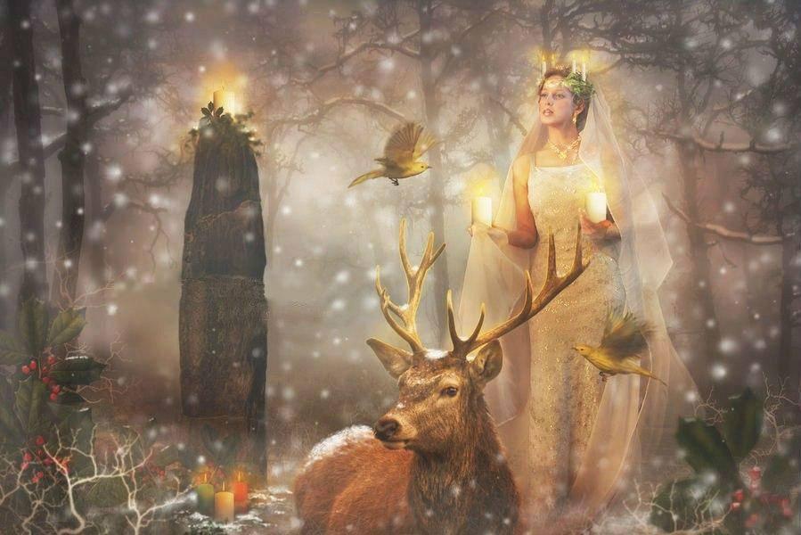 ???? древний языческий праздник йоль - ритуалы и история: зимнее солнцестояние в древности