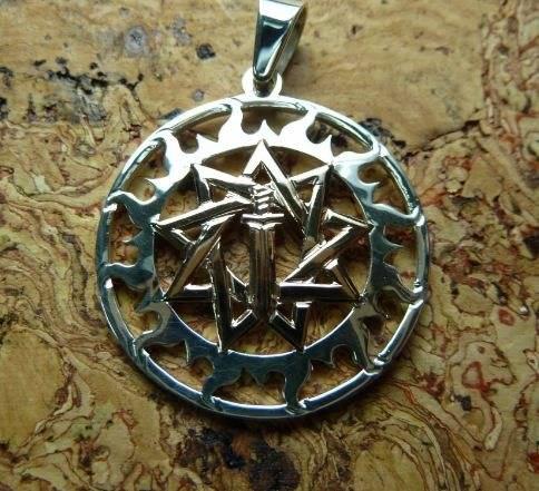 Звезда инглии девятиконечная значение оберега, с мечом
