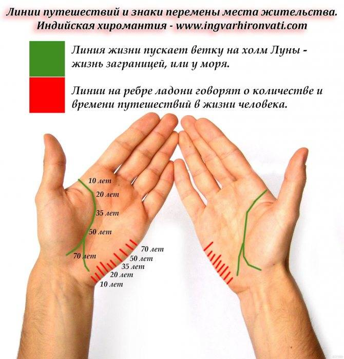 Линия брака (любви) на руке - расшифровка с фото в хиромантии