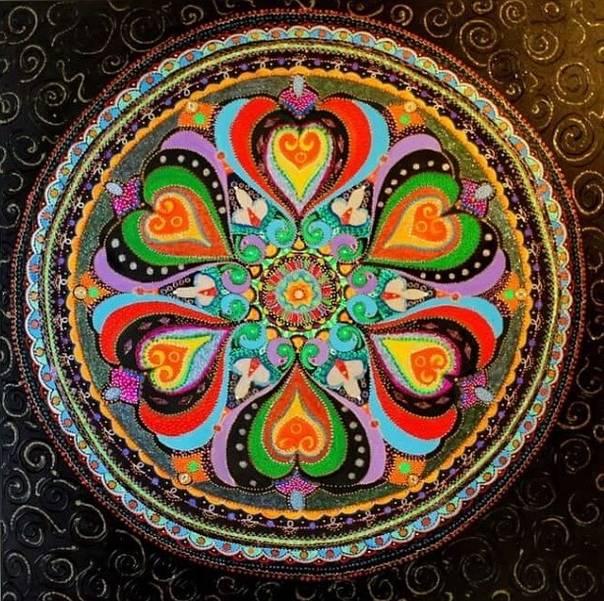 Мандала любви и счастья: для гармонии, спокойствия и процветания, на замужество и отношения, для привлечения женского счастья