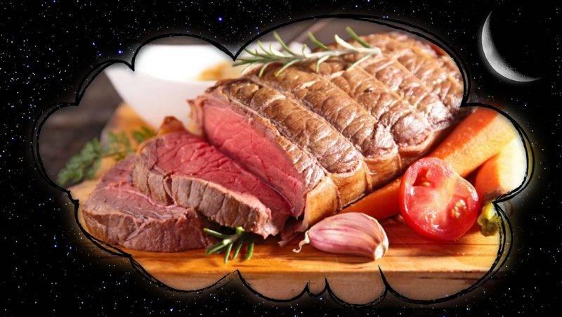 Мясо сырое и жаренное