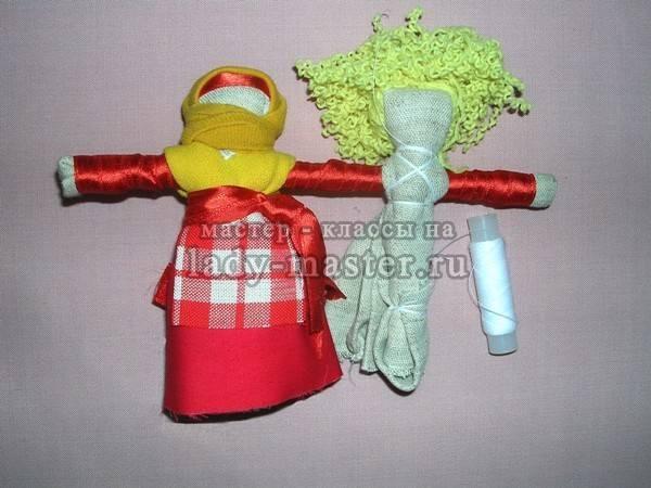Куклы-неразлучники: значение обрядового народного талисмана, мастер-класс с пошаговой инструкцией того, как сделать оберег на свадьбу своими руками, фото, картинки