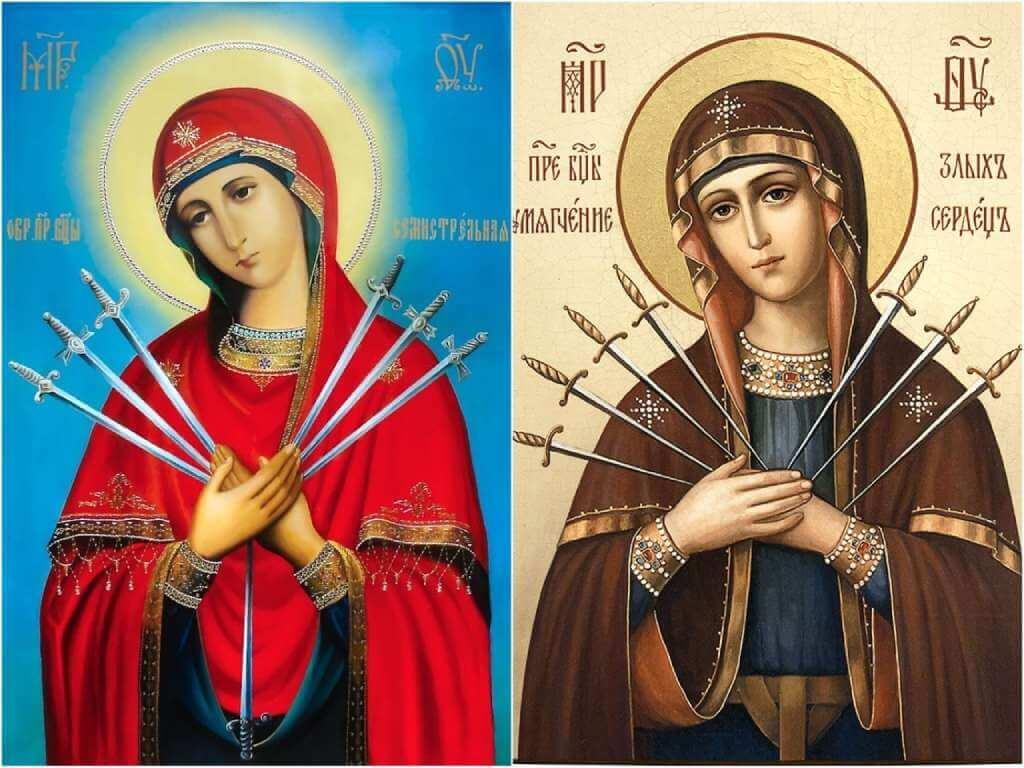 Богородичная икона «семистрельная» — особенности, почитание, молитва