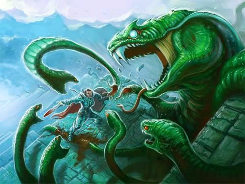 Лернейская гидра — многоглавое чудовище из греческих легенд
