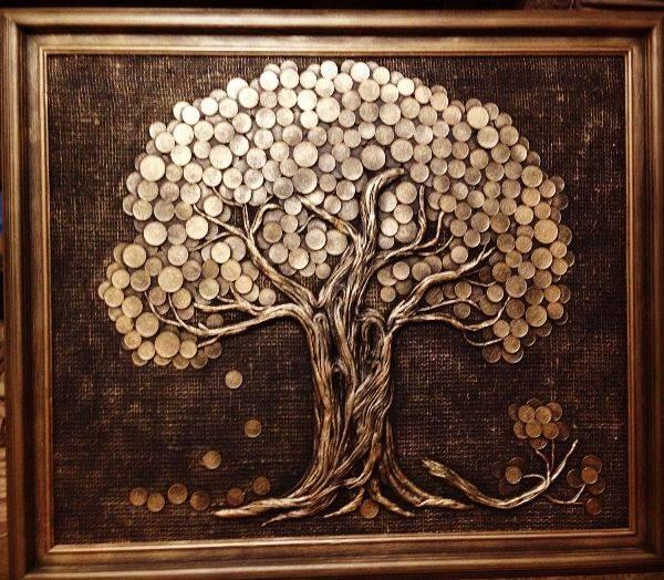 Топиарий из монет своими руками, как украшение интерьера и талисман для привлечения финансового благосостояния в дом, фото и видео по созданию денежного топиария