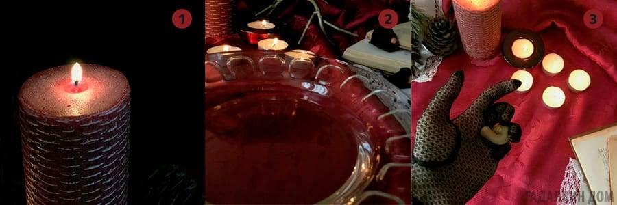 Гадание на красных свечах в рождество и святки на будущее, любовь и любимого по имени, суженого, измену