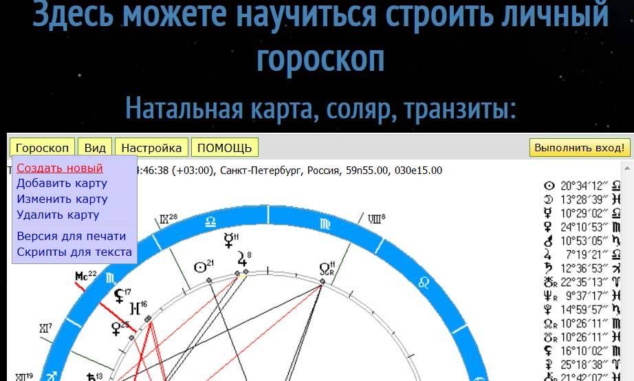 Ректификация гороскопа