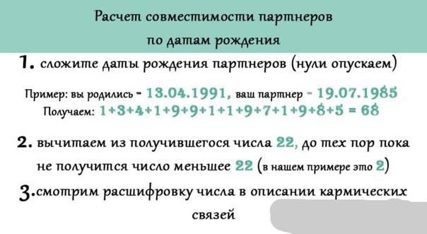 Нумерология совместимости партнеров по имени расчитать онлайн