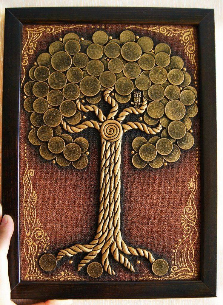 Как сделать денежное дерево своими руками из купюр и монет: пошаговая инструкция