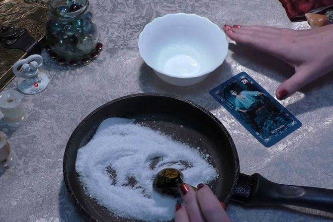 Как снять приворот солью