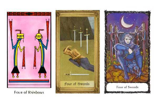 4 мечей таро — значение карты в разных раскладах