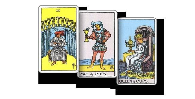 Королева кубков таро в раскладах - значение карты при гадании