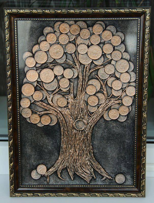Денежное дерево из монет – сильный талисман фен шуй