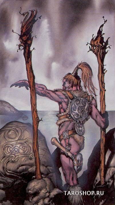 Двойка посохов (2 посохов) — младший аркан карт таро