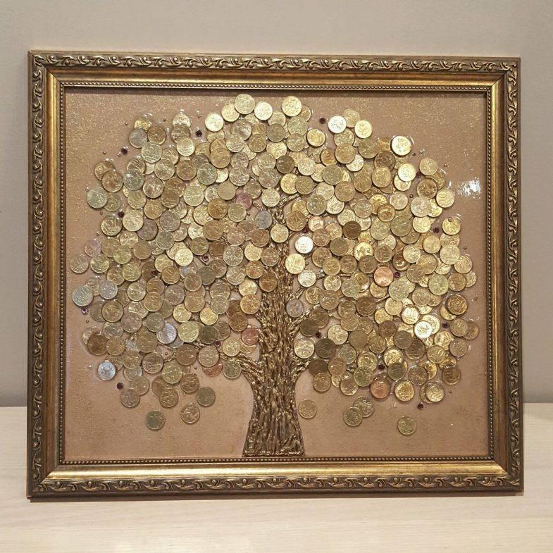 Денежное дерево из монет своими руками. мастер-класс