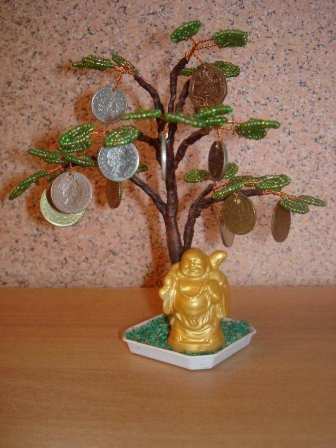 Денежное дерево из монет своими руками, приметы, фото