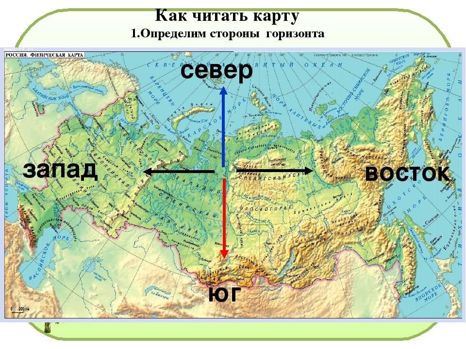 Север северо восток. расположение сторон света: севера, юга, востока и запада