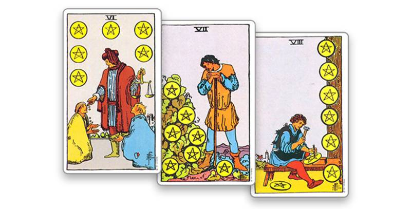 2 (двойка) пентаклей в таро: значение в отношениях, работе, здоровье, урок от карты